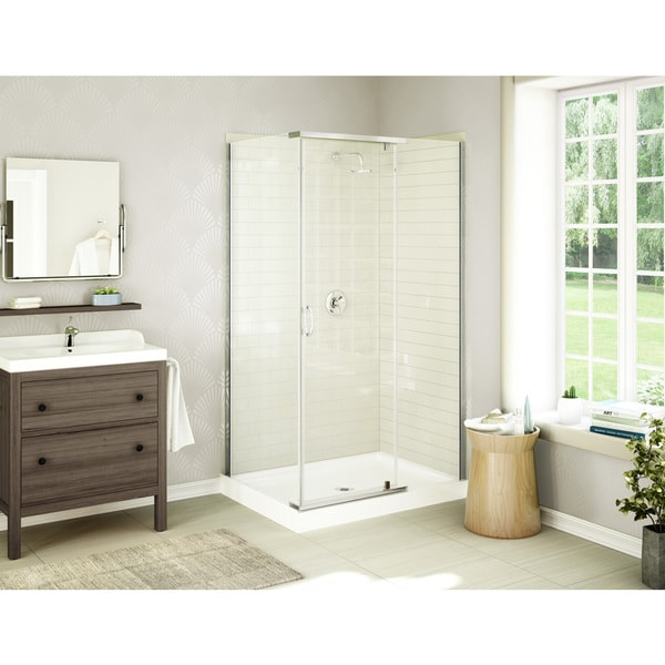 Acro Frameless Tempered Glass Acrylic Shower Stall