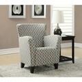 Grey / Beige Wave Fabric Club Chair