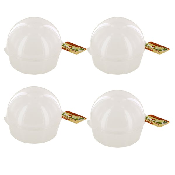 Domed Vegetable/ Fruit Plastic Storage Container (Pack of 4)