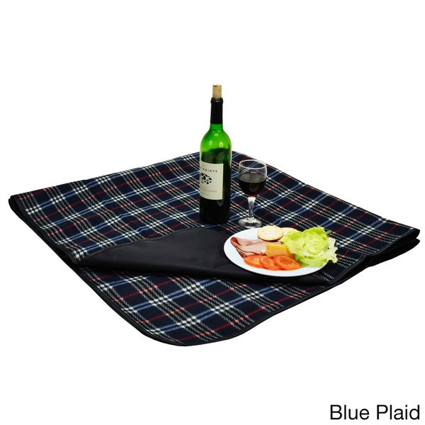 Multi Fleece Picnic Blanket with Attached Case