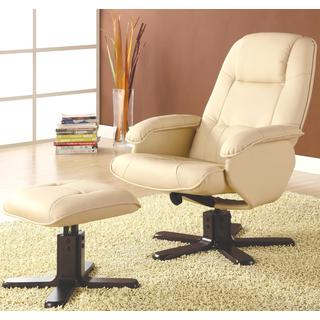 Basana Swivel Recliner Ottoman Set