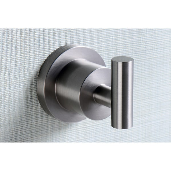 Modern Brass Satin Nickel Robe Hook (Set of 2)