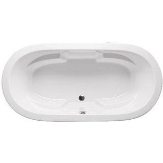 Americh BR6644L-24L-BI Biscuit Brisa II Oval Whirlpool Soaking Bathtub with 8 Jets