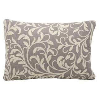 Nourison Kathy Ireland Grey Floral Swirl Accent Throw Pillow