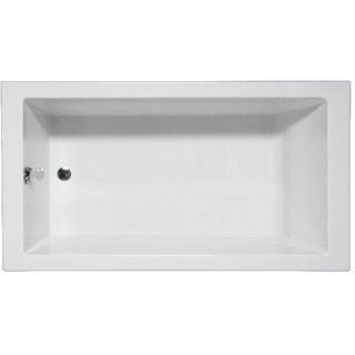 Americh WR7236ADAB-WH Wright Builder White Rectangular Whirlpool Bathtub with 6 Jets