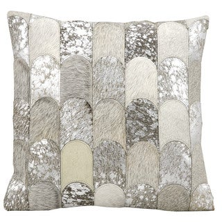 kathy ireland Lady Fingers Silver/Grey Throw Pillow (20-inch x 20-inch) by Nourison