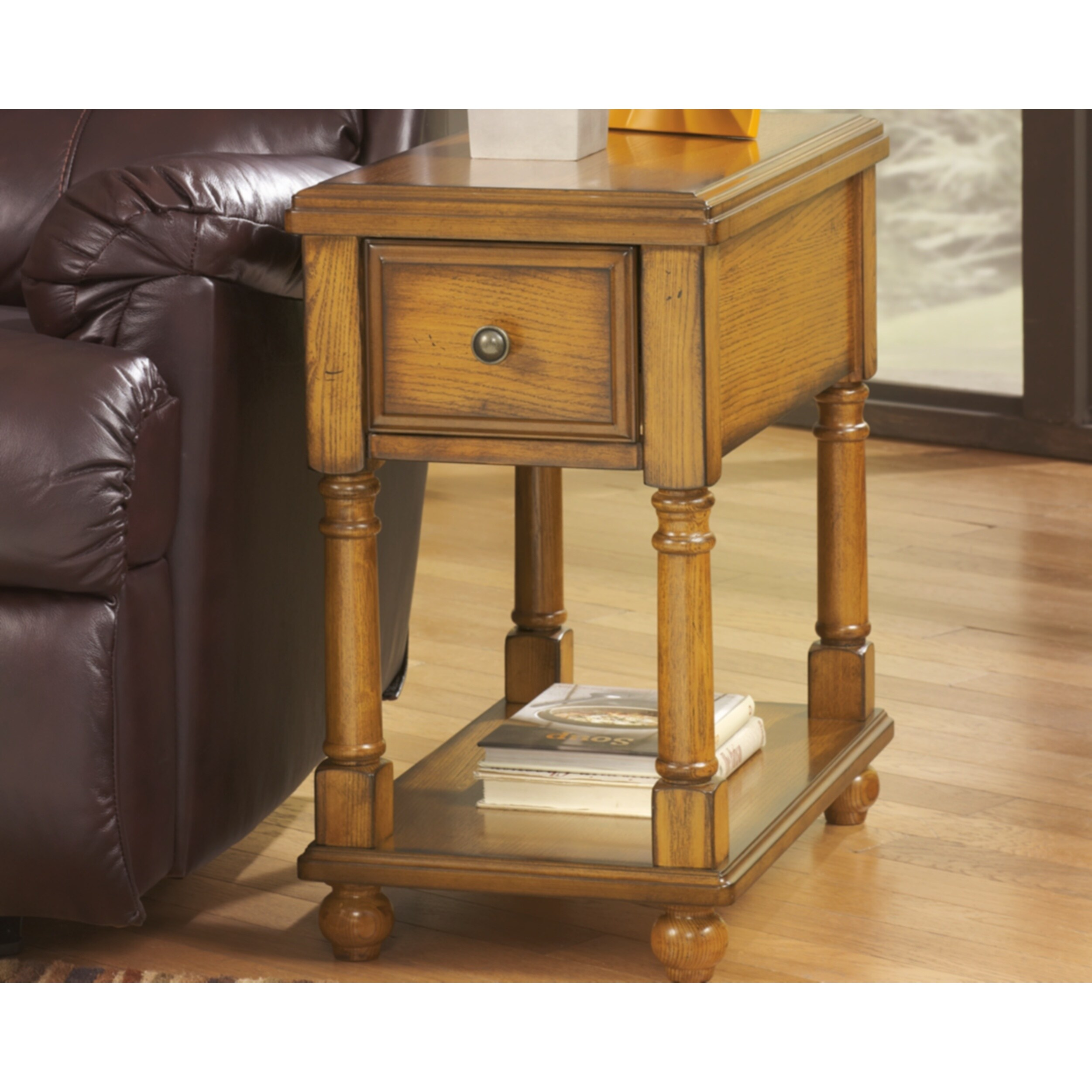 Signature Design by Ashley Oak Finished Chairside End Table at Sears.com