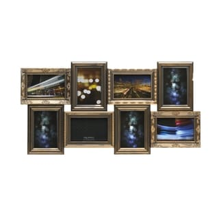 Melannco Goldtone Rub Multi Profile Collage 8-photo Frame