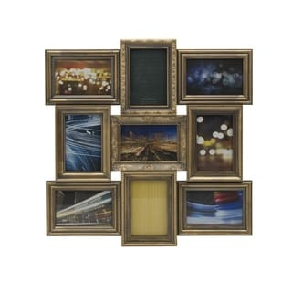 Melannco Goldtone Rub Multi Profile Collage 9-photo Frame