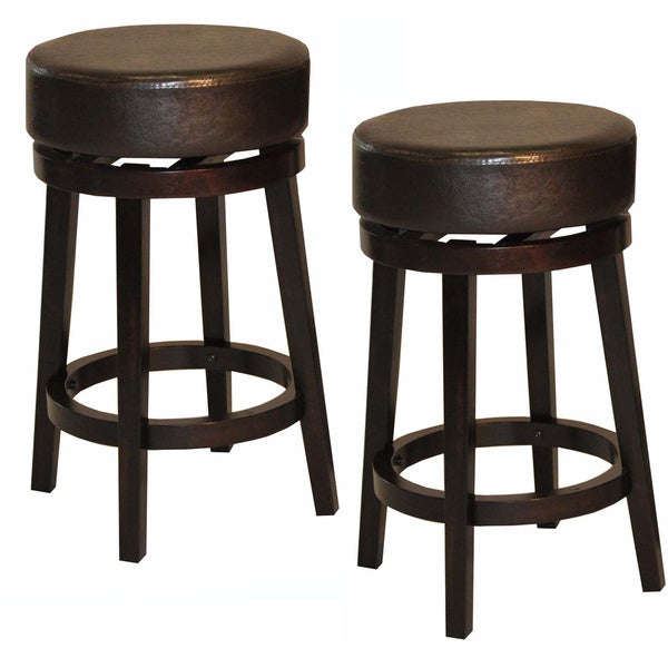 Whitaker Furniture Leatherette and Espresso Backless  : Whitaker Furniture Leatherette and Espresso Backless Swivel Stools Set of 2 7caa6364 7c94 4966 8b09 504aecfd2832600 from www.overstock.com size 600 x 600 jpeg 35kB