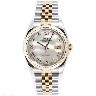 Pre-owned Rolex Men's Datejust Steel and 18k Yellow Gold Jubilee Watch