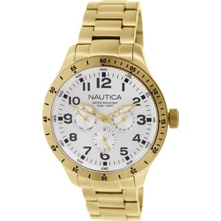Nautica Men's Bfd 101 N16658G Goldtone Stainless Steel Quartz Watch