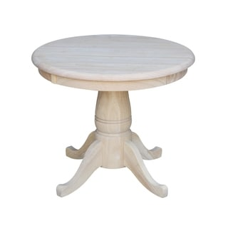 Round Unfinished Solid Parawood 22-inch Pedestal Table