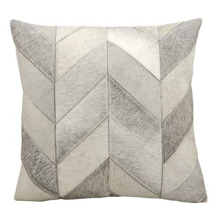 kathy ireland Solid Chevron Grey Throw Pillow (20-inch x 20-inch) by Nourison