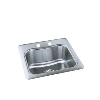 Kohler Staccato Self-Rimming Stainless Steel 2-hole Single Bowl Sink