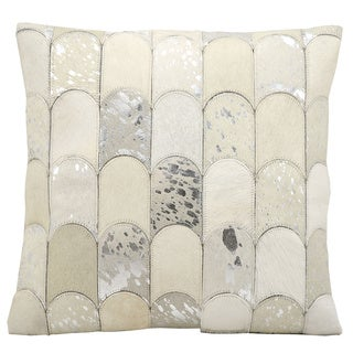Nourison Kathy Ireland White/ Silver 20-inch Throw Pillow