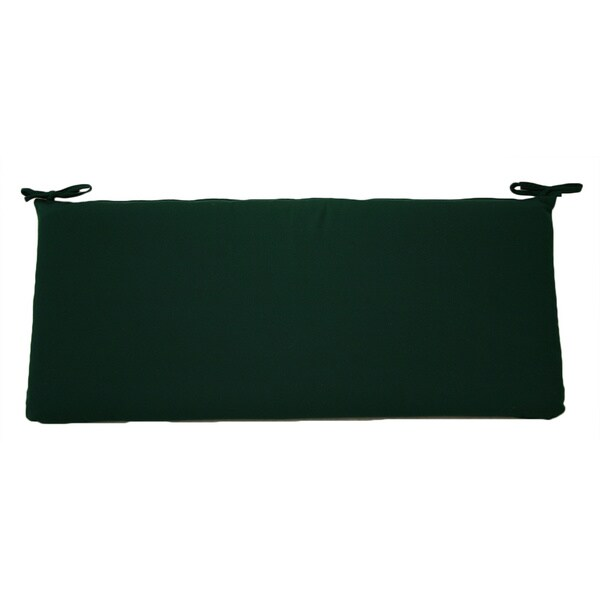 Trijaya Living Forest Green Sunbrella Bench Cushion
