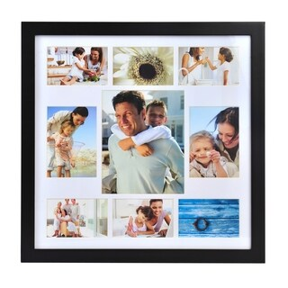 Melannco Matte Black 9-photo Collage Frame