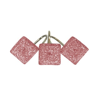 Crystal Pink Shower Curtain Hooks (Set of 12)
