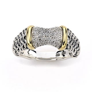 Samuel B. 18k Yellow Gold/Sterling Silver Two-Tone Diamond Ring (G-H, SI1-SI2)