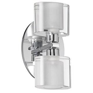 Dainolite 2-light Glass Wall Sconce