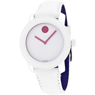 Movado Bold Women's 3600177 White Leather Watch