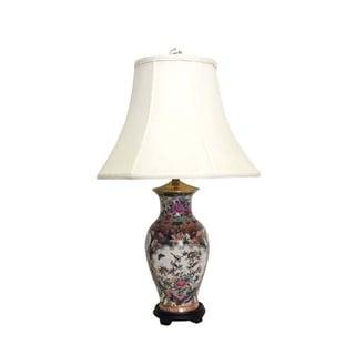 Rose Medallion Fishtail Porcelain Vase Lamp