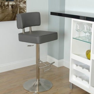 Naito Brushed Stainless Steel Adjustable Height Swivel Stool