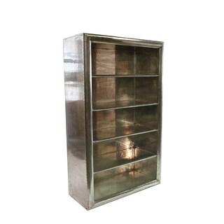 Aero Riveted Silvertone 77-inch Bookcase