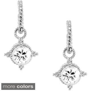 Gioelli Sterling Silver Cubic Zirconia Circle Dangle Earrings