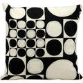 kathy ireland by Nourison Black/ Ivory 18-inch Throw Pillow