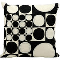 kathy ireland Lucky Dice Black/Ivory Throw Pillow (18-inch x 18-inch) by Nourison