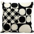 Nourison Kathy Ireland Black/ Ivory 18-inch Throw Pillow