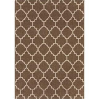Mandara Brown/Tan Indoor/Outdoor Rug (5'3 X 7'7)