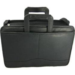 David King Leather 134 Triple Gusset Drop Handle Black