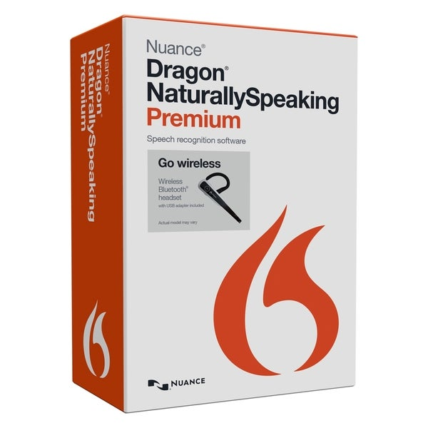 Nuance Dragon NaturallySpeaking v.13.0 Premium Wireless Edition With