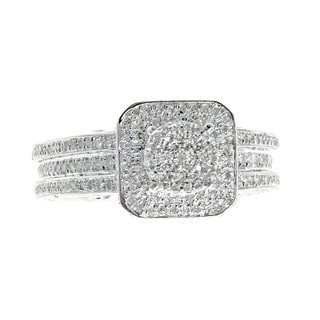 10k White Gold 1 1/5ct TDW Diamond Ring Set (G-H, I1-I2)