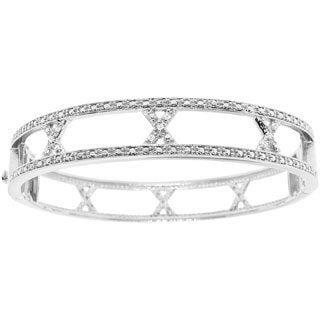 Sterling Silver 1/5ct TDW Diamond Bangle Bracelet (H-I, I2-I3)