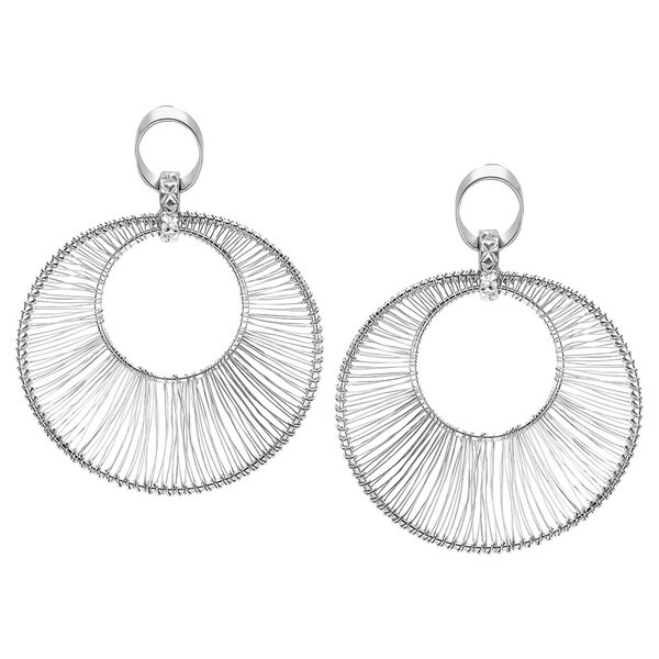Stainless Steel Fashion Double-loop Earrings