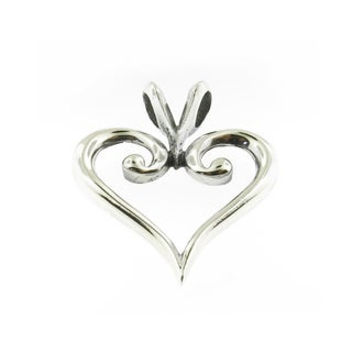 Handmade Sterling Silver Outlined Heart Pendant (Thailand)
