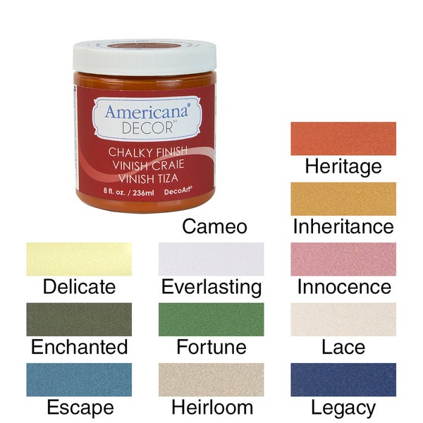 Americana Chalky Finish Paint 8oz Overstock Shopping The Best Prices On Decorative Painting