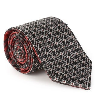 Vance Men's Silk Touch Microfiber Reversible Tie and Hanky Set