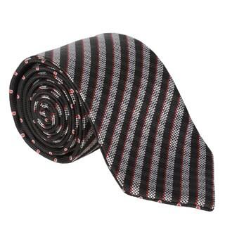 Vance Men's Silk Touch Microfiber Reversible Tie and Hanky Set