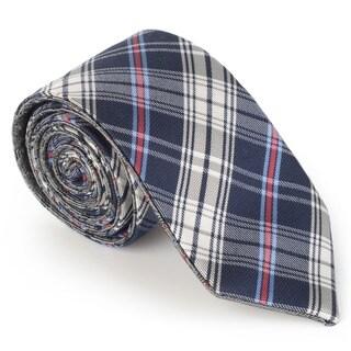 Vance Men's Wool Blend Microfiber Reversible Tie and Hanky Set