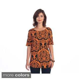 Hadari Women's Brocade Design Blouse