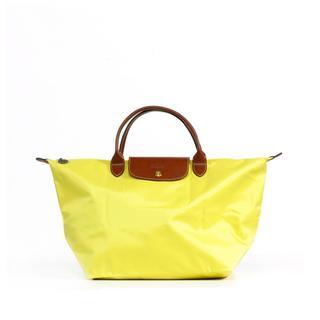 Longchamp Le Pilage Medium Lemon Handbag