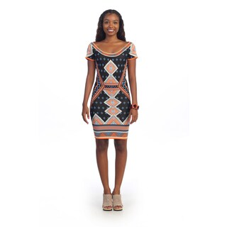 Hadari Women's Geometric Sheath Dress
