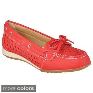 Journee Collection Women's 'Wilmar-03' Slip-on Boat Shoes
