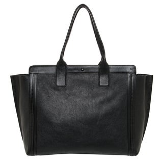 Chloe 'Alison' Black Leather East/ West Winged Tote