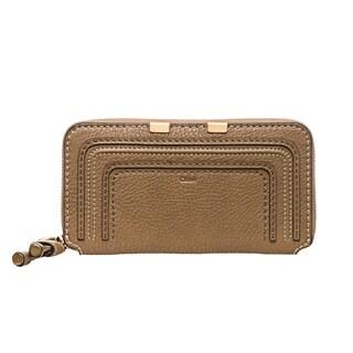 Chloe 'Marcie' Nut Leather Zip-around Wallet
